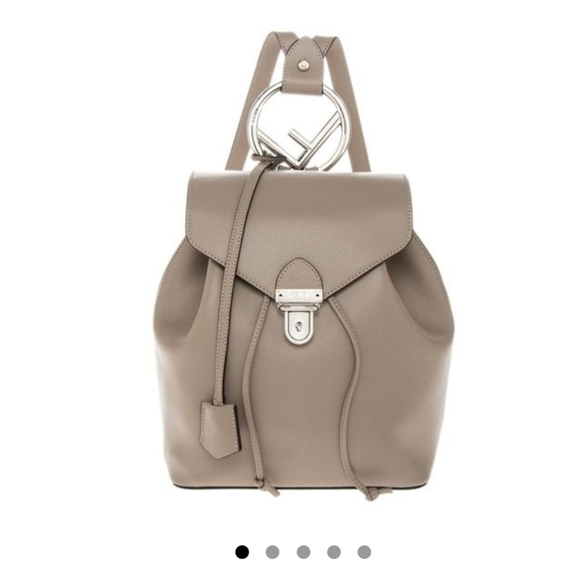 Fendi Handbags - Almost new Fendi leather backpack taupe